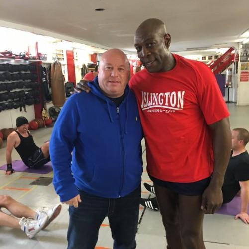 Lenny Hagland with Frank Bruno (former professional British boxer)