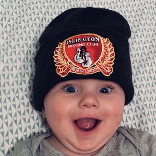 Baby in IBC Hat