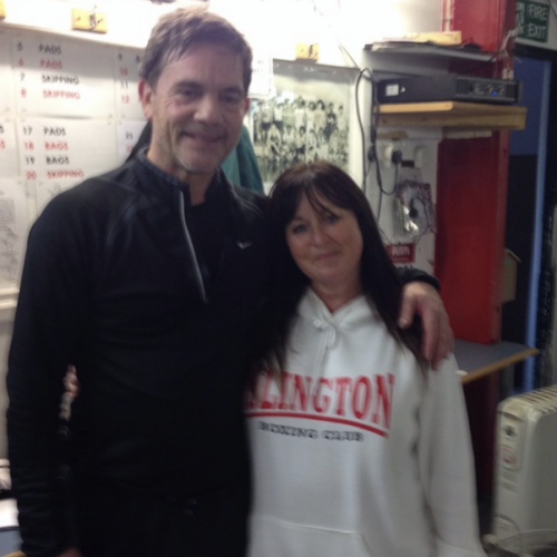 Jackie Hagland with John Mickie (Actor)