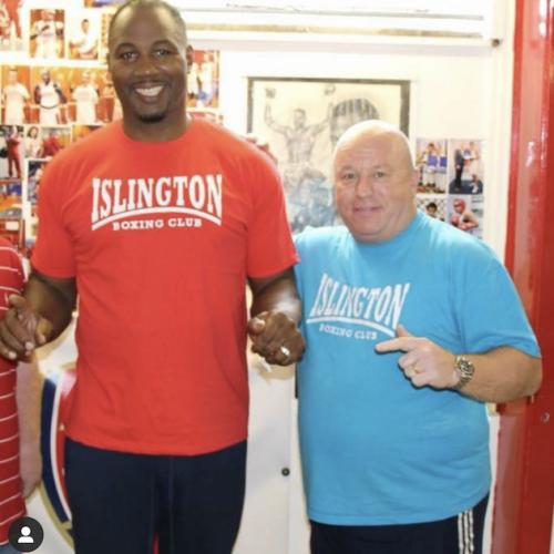 Lenny Hagland with Lennox Lewis (former professional boxer)