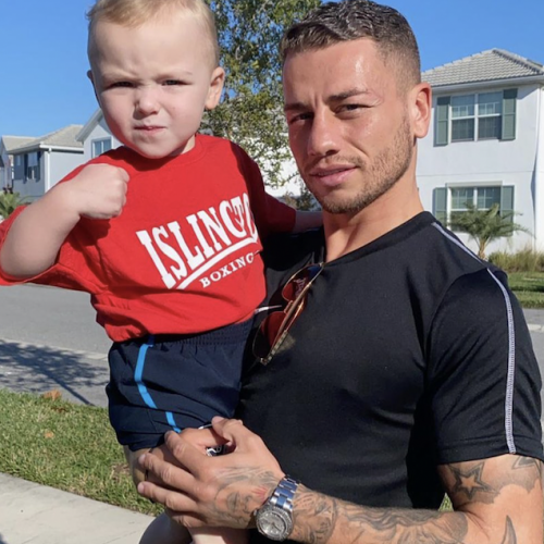 Lucien Reid with Baby Dylan in Orlando, Florida