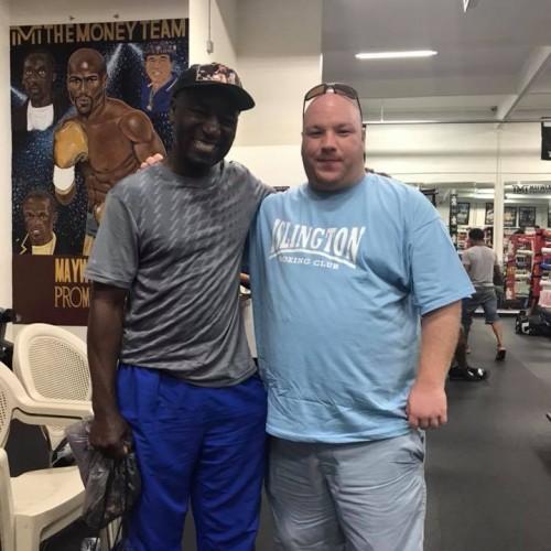 Reggie with Cornelius Boza-Edwards (Former WBC Super Featherweight Champion of The World) in Las Vegas