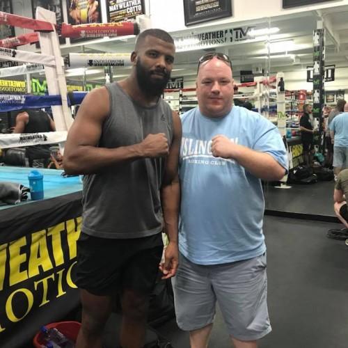 Reggie Hagland with Badou Jack (former WBC and WBA title holder) in Las Vegas