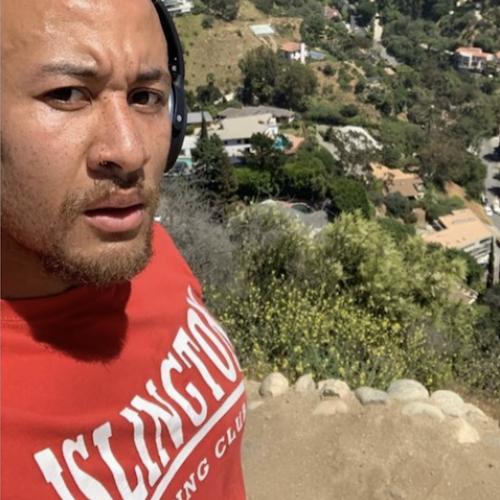 Kenny hiking at Runyon Canyon Park, Los Angeles